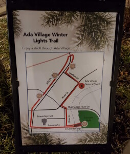 Ada Village Winter Wonderland Lights Trail Map