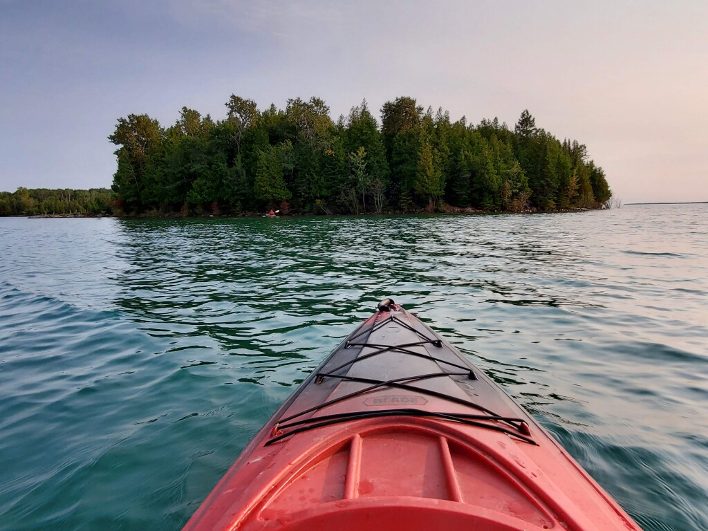 Kayaking the St. Mary's River, Drummond Island, September
