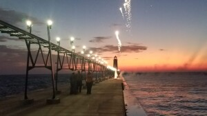 Grand Haven Pier Lights Re Lighting Ceremony 2019 Fireworks