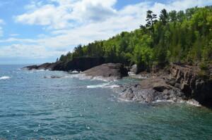 Lake Superior Shoreline Presque Isle Park Marquette
