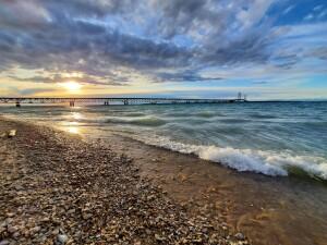 Mackinac Bridge Sunset - Jonathan Katje