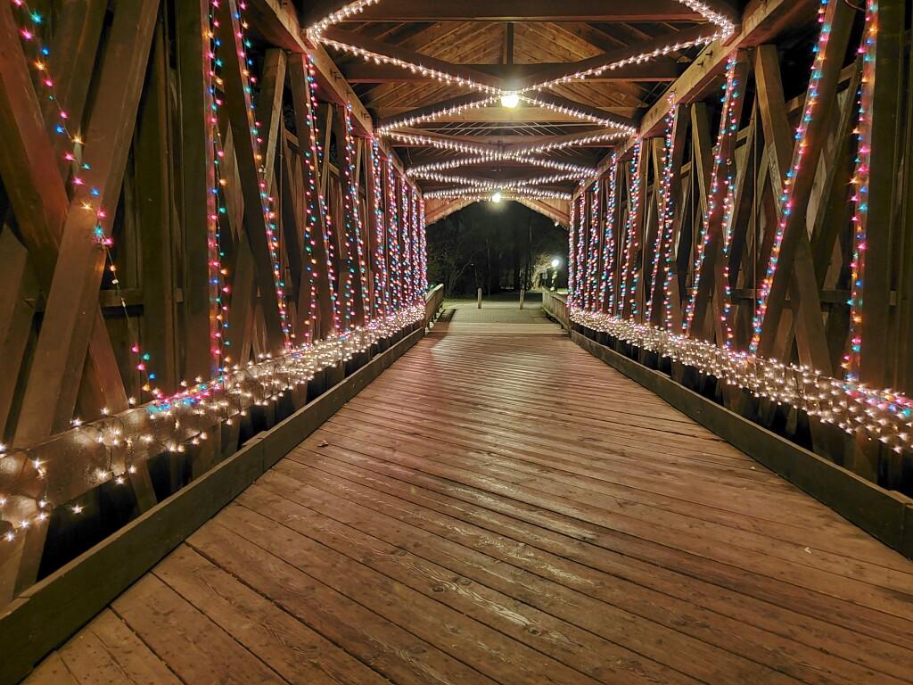 Ada Covered Bridge Winter Wonderland, December
