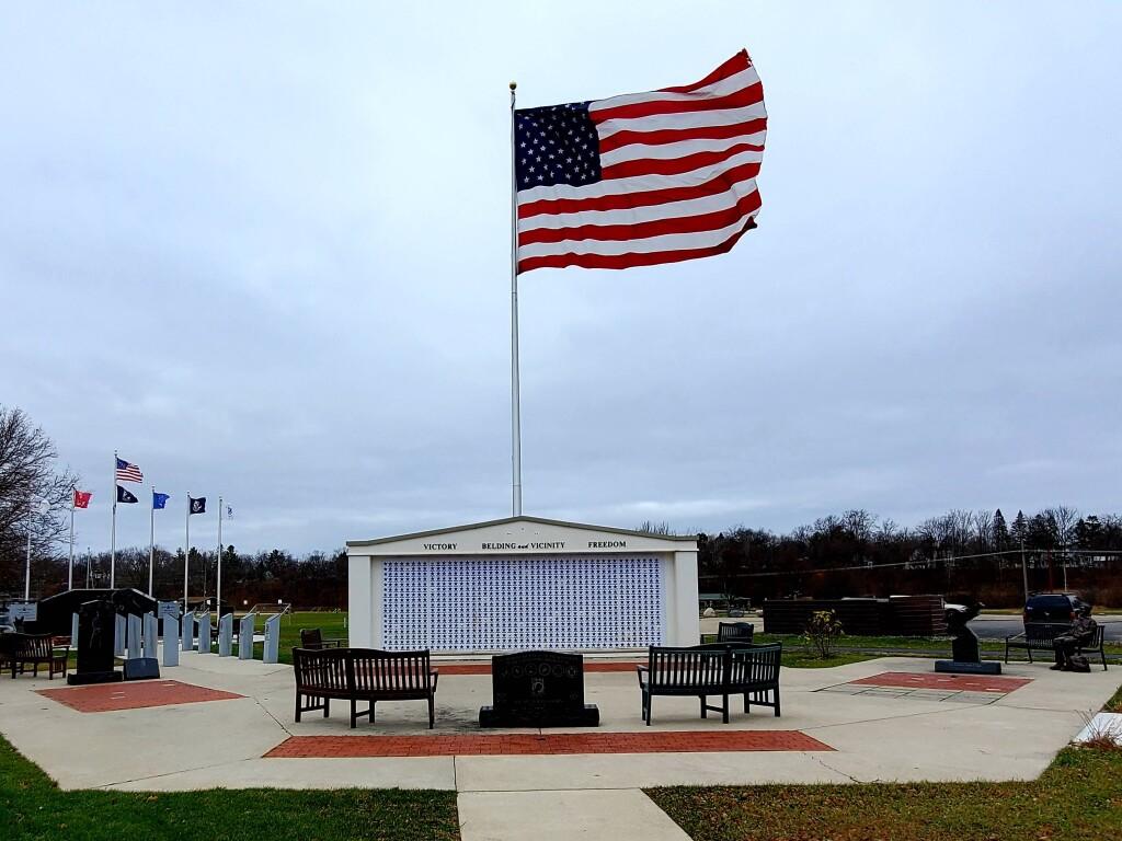 Veterans Memorial Park in Belding, November