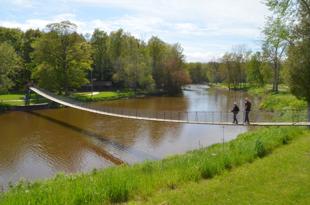 Croswell Swinging Bridge, May