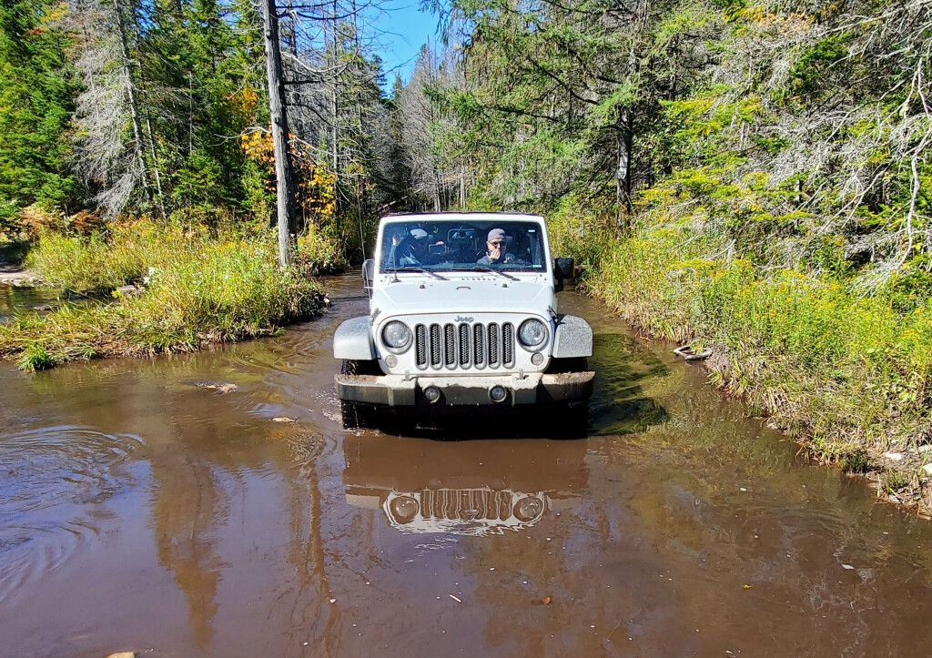 Jeep at Conner's Hole, Drummond Island, September