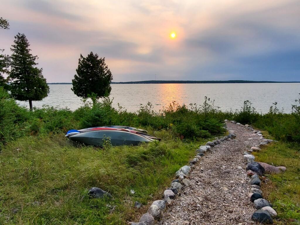 Drummond Island's Pebble Beach Cabin View, September