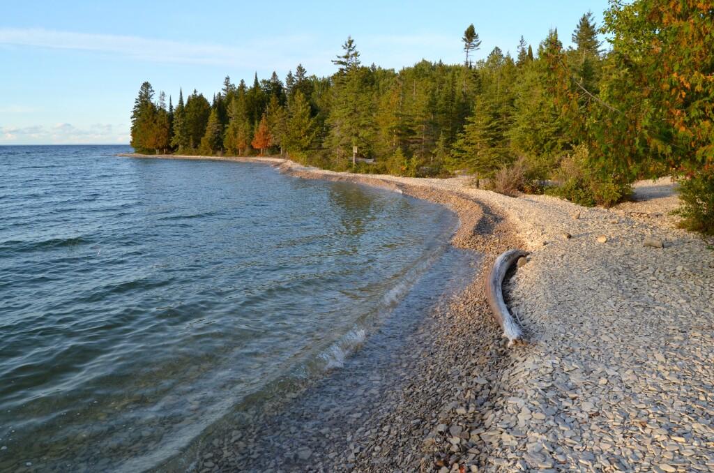 Drummond Island shoreline, September