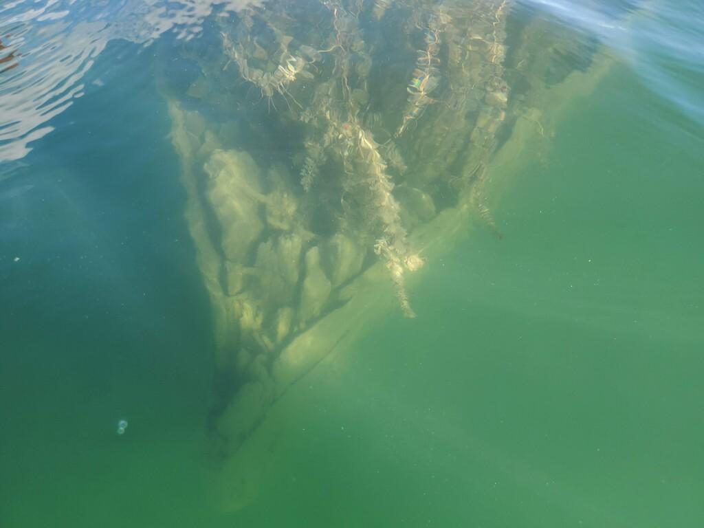 "Shipwreck of the tug ""Silver Spray"", Drummond Island, September"