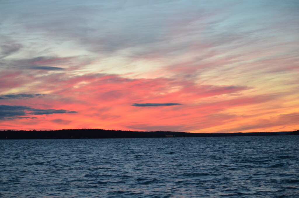 Sunset on the St. Mary's River, Drummond Island, September