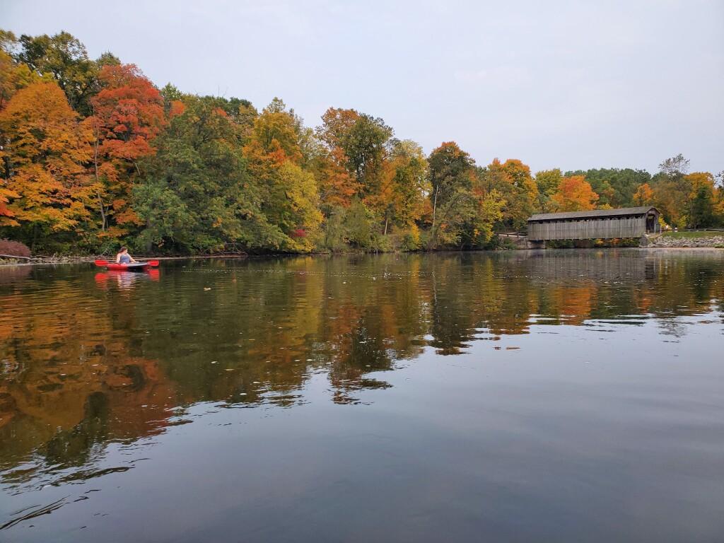 Michigan Photos 2020 Fall Color Paddle Flat River Fallasburg