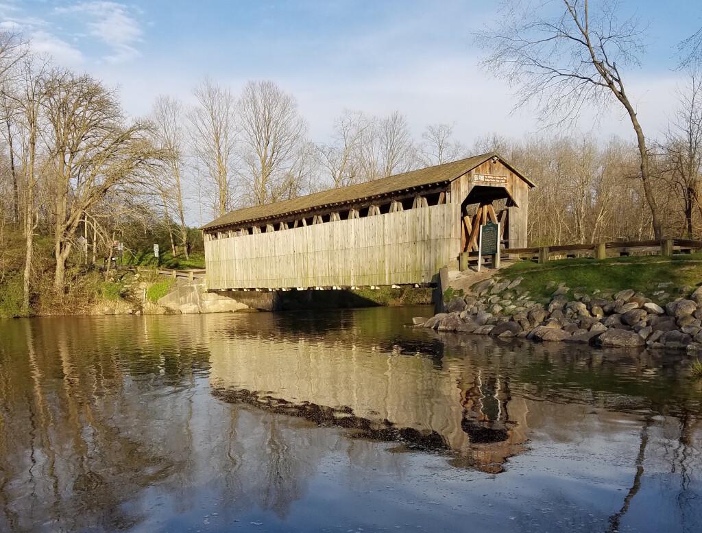 Michigan Photos 2020 Fallasburg Covered Bridge Reflection