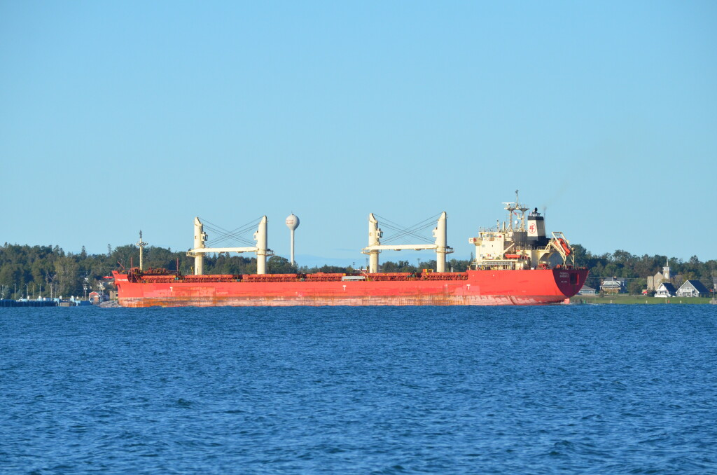 Freighter Federal Barents in the St. Mary's River, September