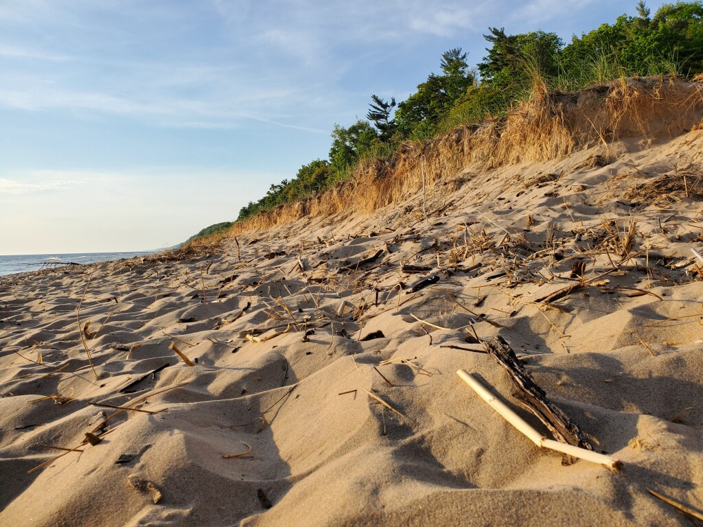 Hoffmaster State Park beach, June
