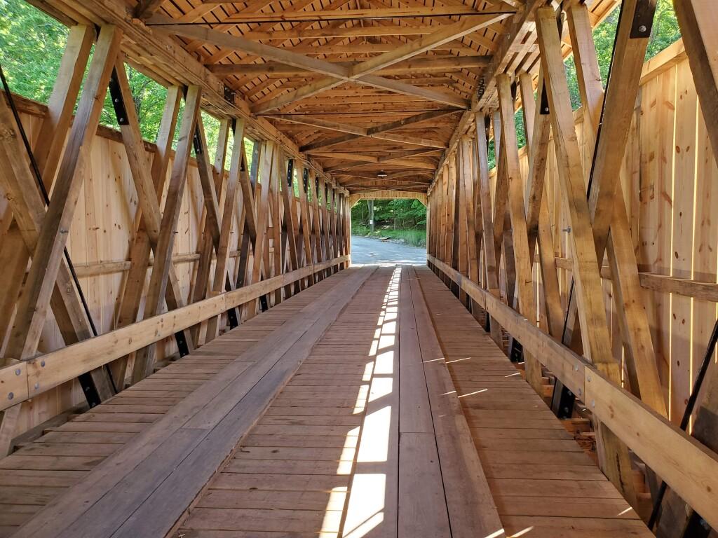 The newly rebuilt White's Bridge, Smyrna, June