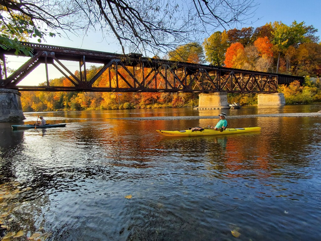 Fall color on the Muskegon River, October