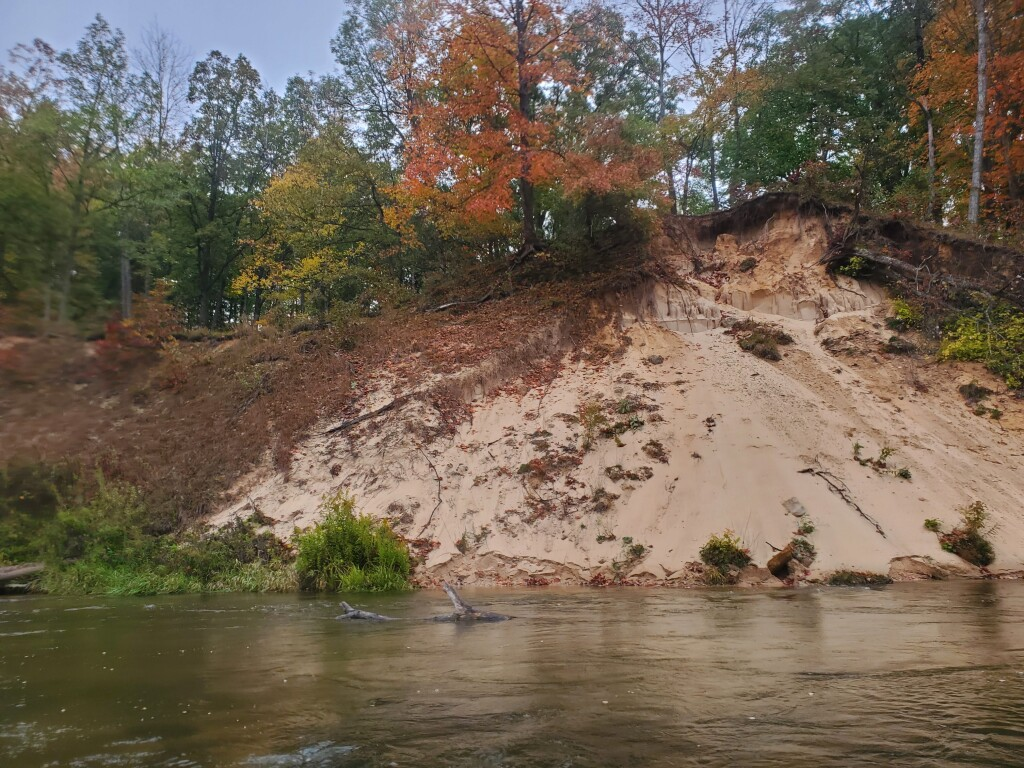 Pine River kayak trip, October