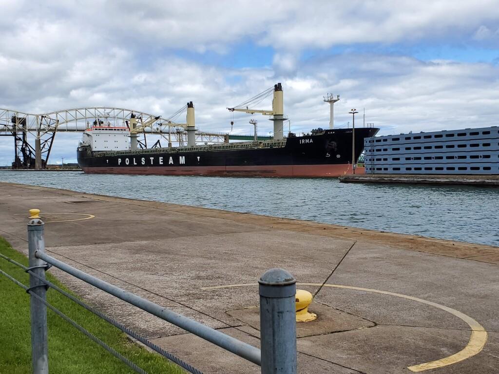 Polsteam freighter Irma at the Soo Locks, June