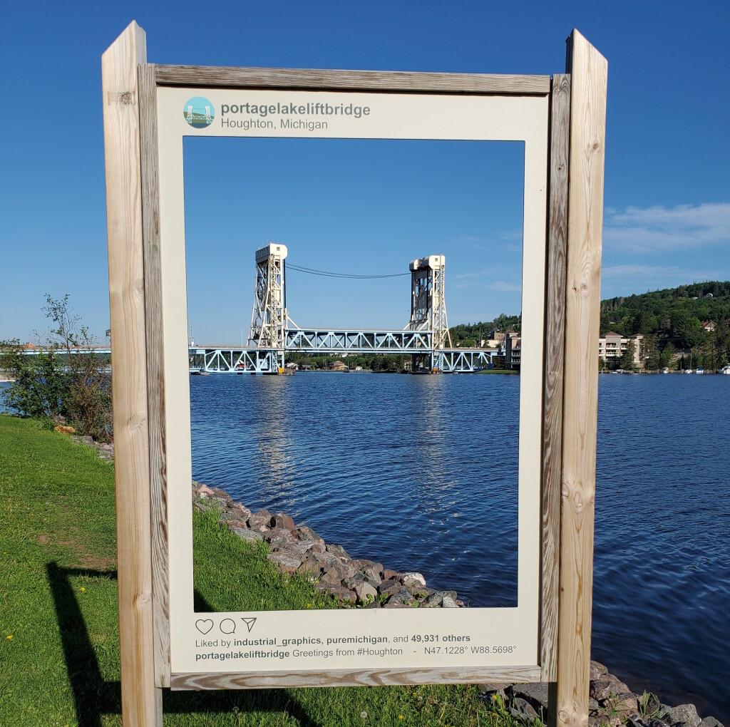Portage Lake Lift Bridge, Houghton, June