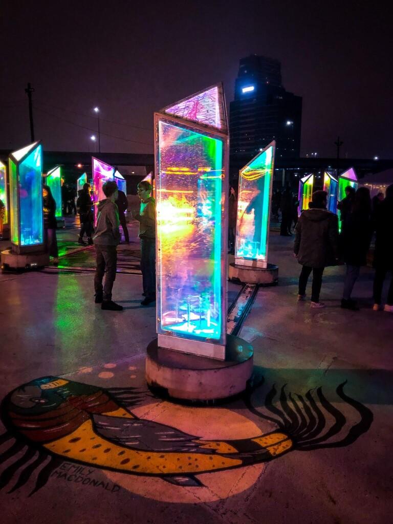 Prismatica Art Installation, Grand Rapids, January