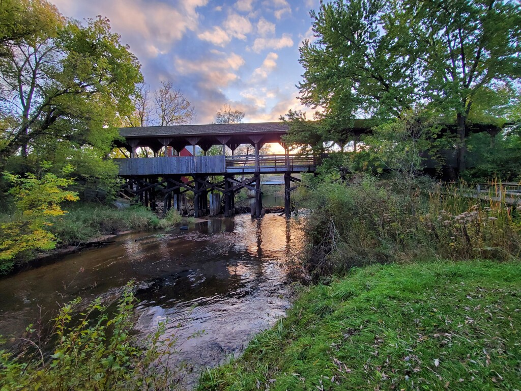 Reed City Covered Bridge, October