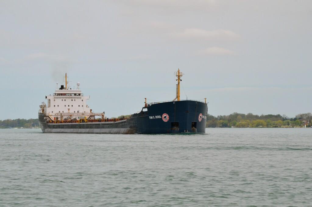Freighter Tim S. Dool passes Port Huron, May