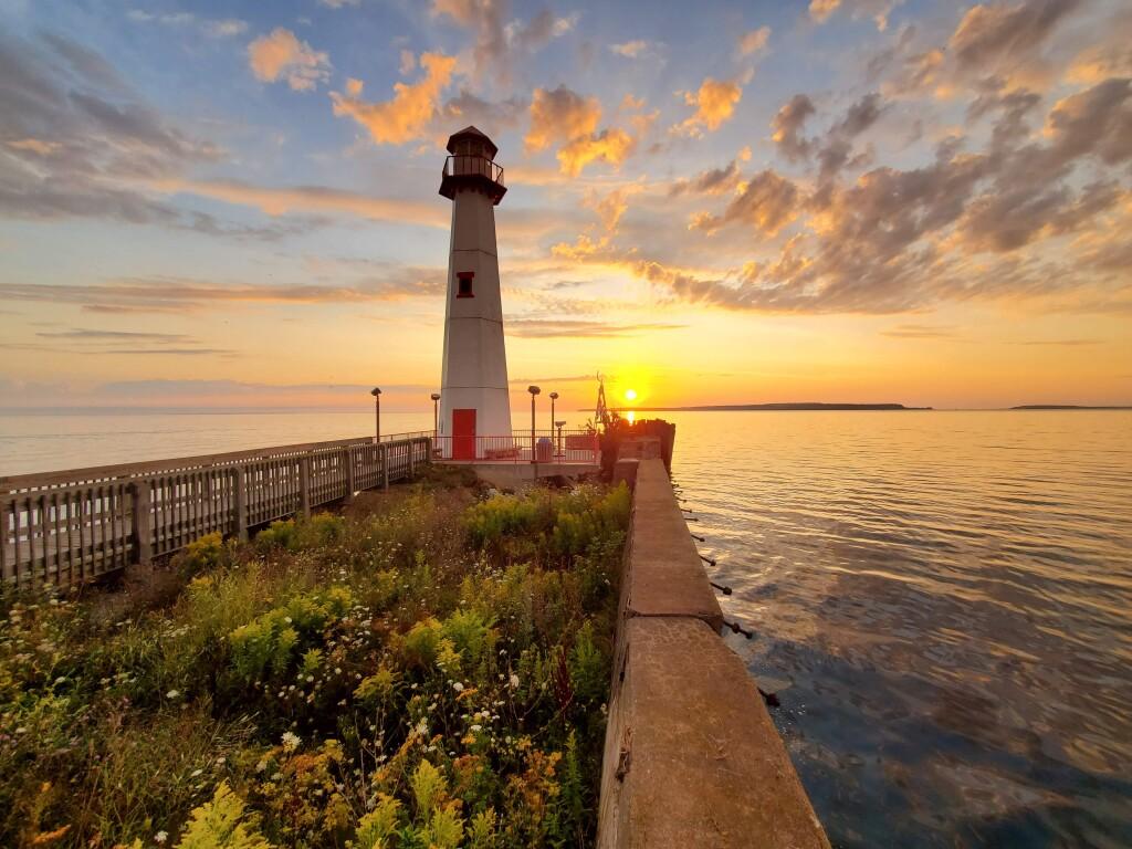 Michigan Photos 2020 Wawatam Lighthouse Sunrise COVER
