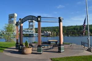 Portage Lake Lift Bridge Bridgeview Park Houghton