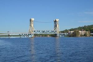 Portage Lake Lift Bridge Michigan