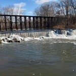 See the Historic Train Trestle and a Waterfall at Schutmaat Park in Hamilton