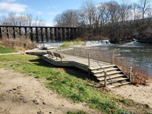 Schutmaat Park Michigan Rabbit River Damand Trestle