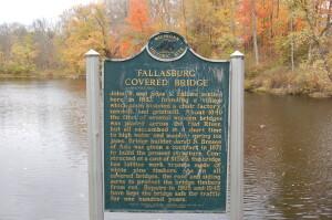 Fallasburg Covered Bridge Michigan Historical Marker