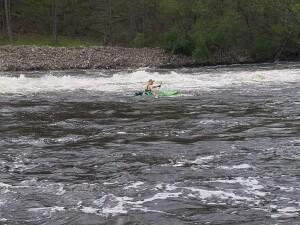 Flat River kayak Burroughs Dam
