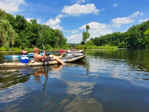 Flat River kayak trip Lowell Michigan
