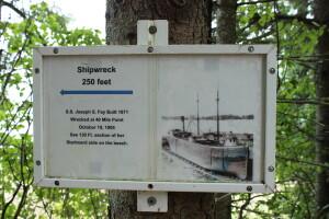 Joseph S Fay Michigan Shipwreck 40 Mile Point Info