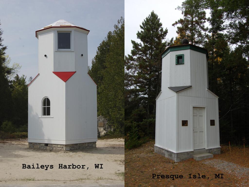 Michigan Wisconsin Lighthouses Baileys Harbor Presque Isle