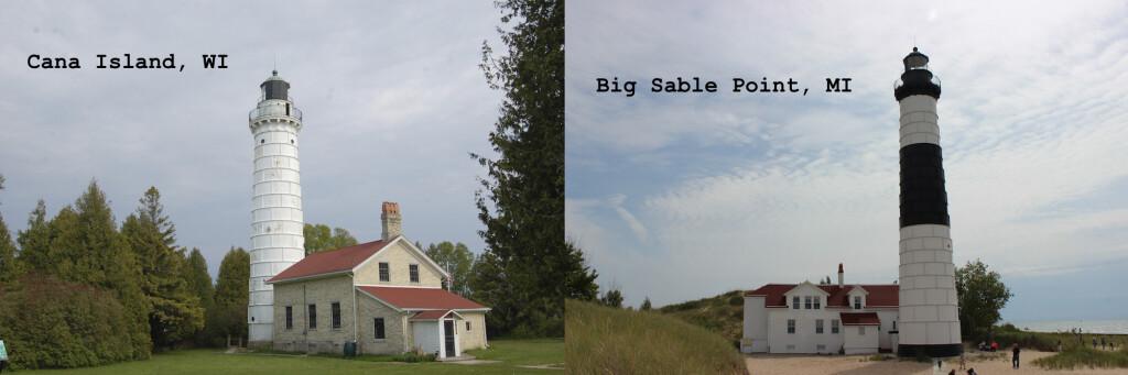 Michigan Wisconsin Lighthouses Cana Island Big Sable