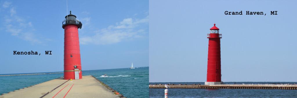 Michigan Wisconsin Lighthouses Kenosha Grand Haven