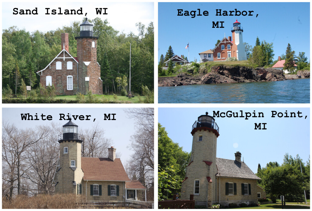Michigan Wisconsin Lighthouses Sand Island Eagle Harbor