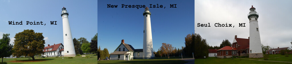 Michigan Wisconsin Lighthouses oe Style Wind Point Seul Choix