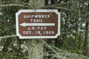 Michigan shipwreck Joseph Fay 40 Mile Point