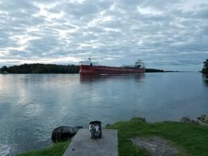 Rotary Island Park Sault Ste. Marie Atlantic Huron freighter