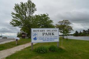 Rotary Island Park Sault Ste. Marie Sign