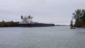 Rotary Park Sault Ste. Marie Walter J. McCarthy freighter