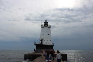Ludington North Breakwater Lighthouse Lake Michigan