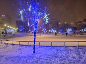 Rosa Parks Circle Ice Skating Grand Rapids