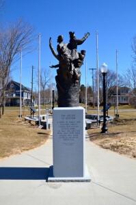 Ascent of Heroism Stearns Park Ludington Michigan Mason County Sculpture Trail