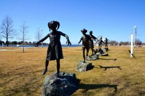 Follow The Leader Sculpture Ludington Waterfront Park Mason County Sculpture TrailJPG