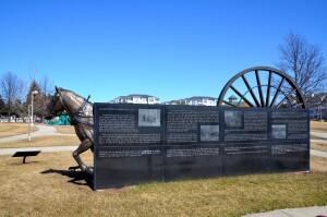 Lumber Sculpture Ludington Mason County Sculpture Trail