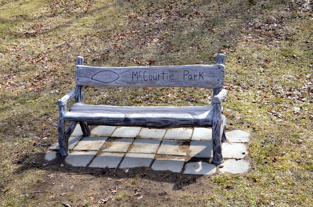 McCourtie Park Bench Somerset Center Michigan