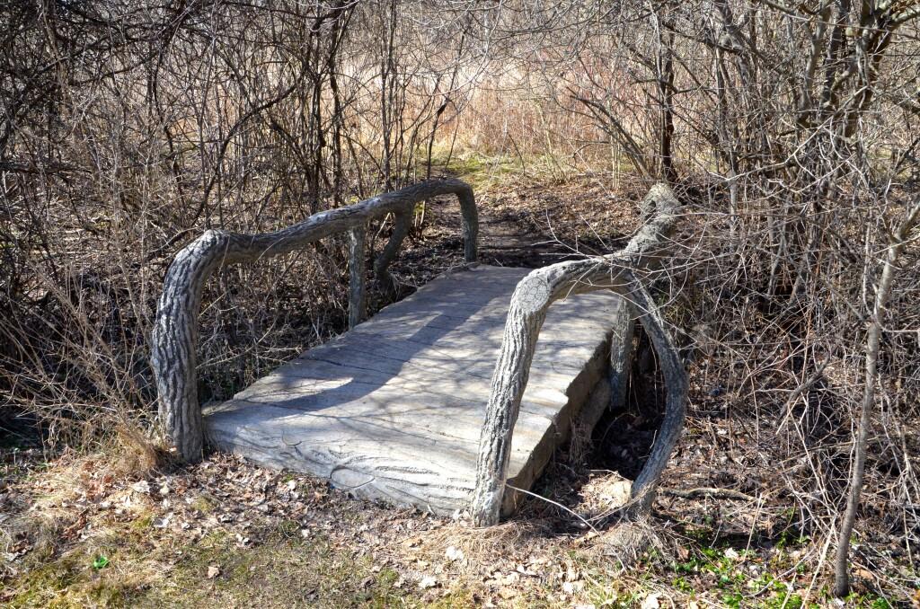 McCourtie Park Bridge in Woods Michigan